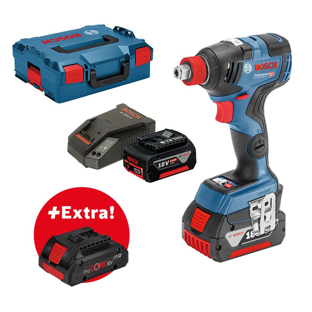Prima Bosch GDX18V-200C - Borrmaskiner och skruvdragare EY-36